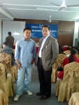 Sujen Man with Dr. Shishir Subba in the program