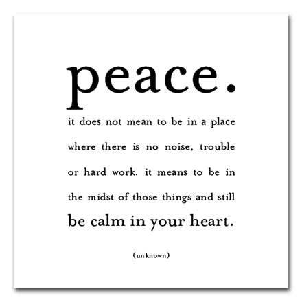peace psychology The peace of awareness this is a subtler kind of peace perhaps you've had the experience of being upset and your mind is racing    and at the same time there is a place inside that is simply witnessing, untroubled by what it sees.