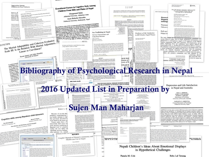 bibliography psychresearch nepal