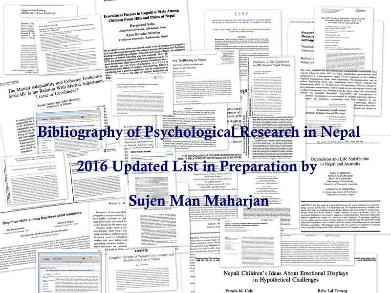 bibliography psychresearch nepal